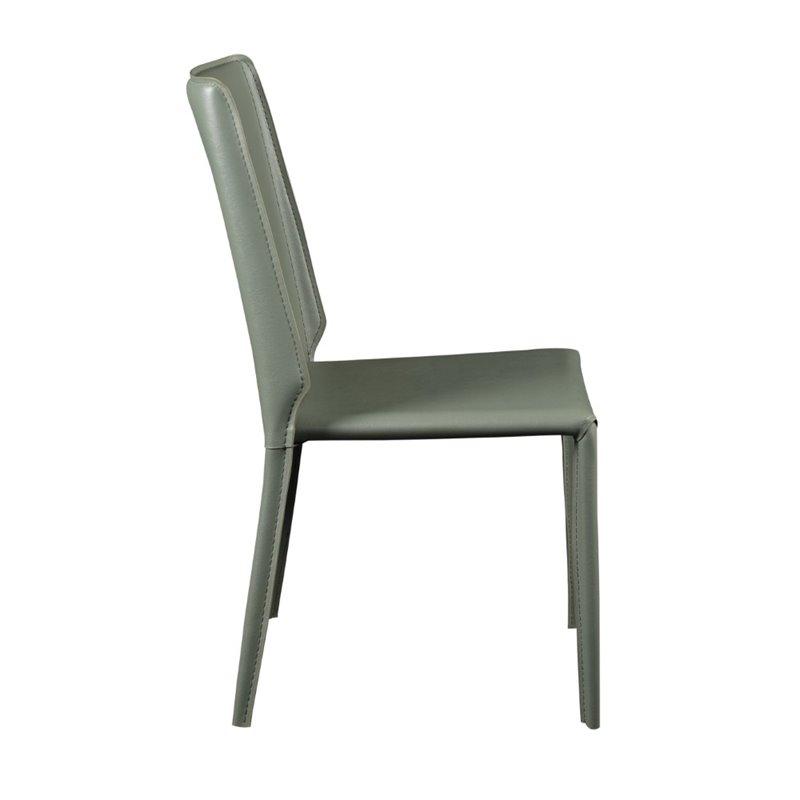 Eurostyle Alder Stacking Side Chair in Green (Set of 4) - image 1 de 6
