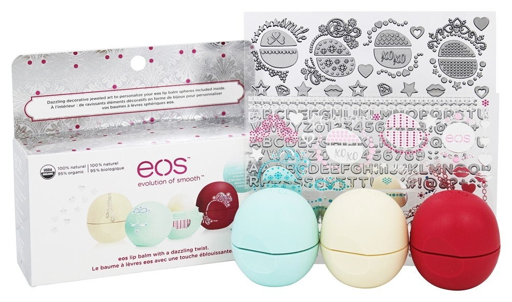 eos organic lip balm sweet mint certified organic and 100 natural