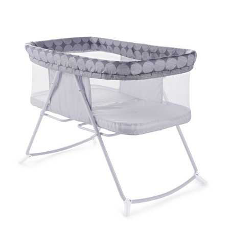 Baby Portable Foldaway Rocking Bassinet in Classic (Classic Baby Bassinet)