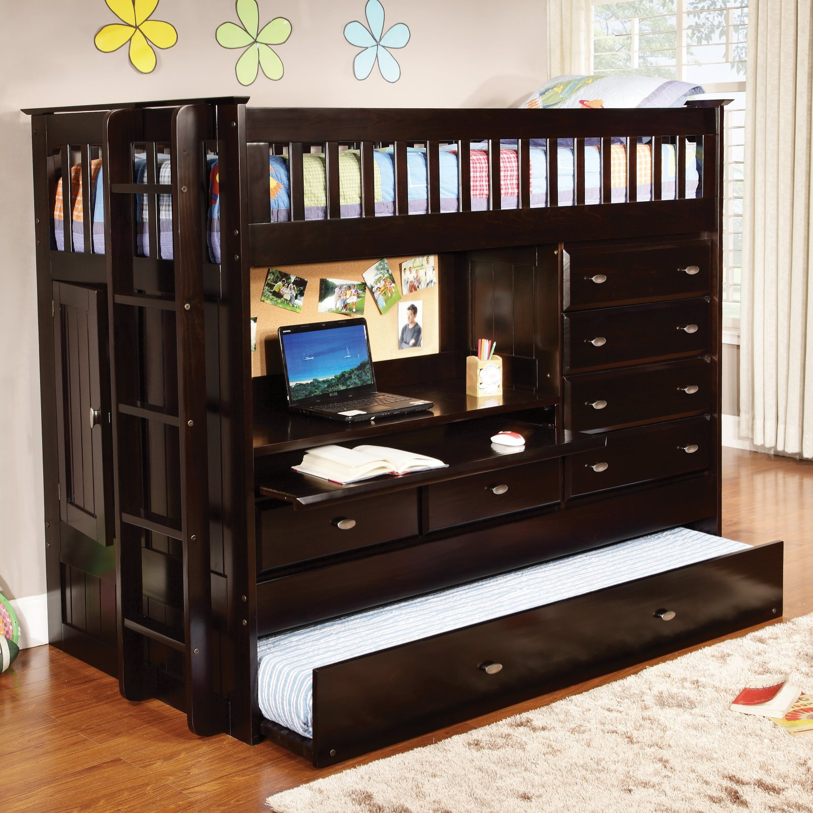 Donco All in One Loft Bed - Dark Espresso