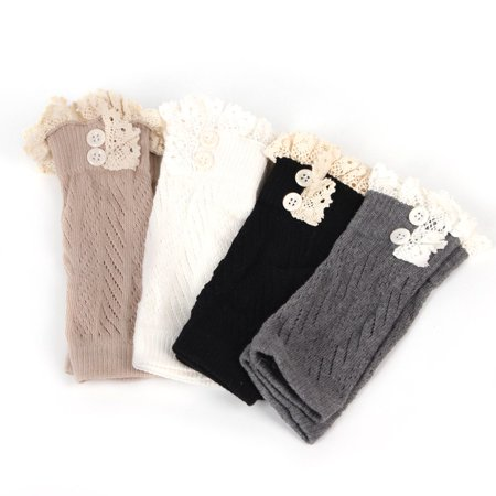 Comfortable Baby Girl Crochet Knitted Lace Boot Cuffs Toppers Leg Warmer Socks - image 4 of 5