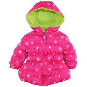 Pink Platinum Baby Girls Newborn Polka Dots Puffer Winter Jacket Coat