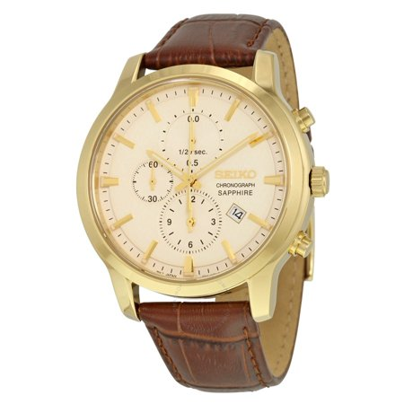 Seiko Neo Sports Chronograph Cream Dial Mens Watch SNDG70