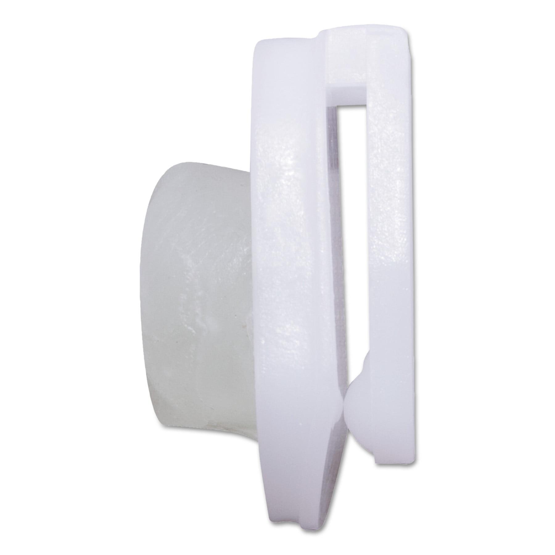 Advantus StikkiCLIPS, Plastic, White, 20/Pack -AVT01220