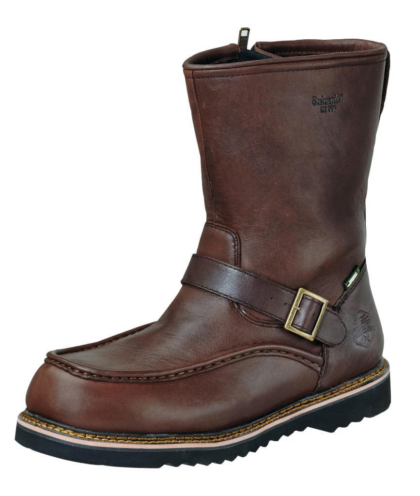 Wood N Stream Outdoor Boots Mens Flyway Moc Zip Timber Brown 6009