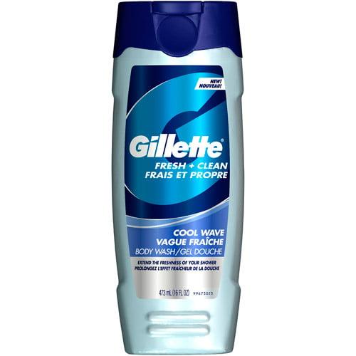 Gillette Fresh + Clean Cool Wave Body Wash, 16 oz