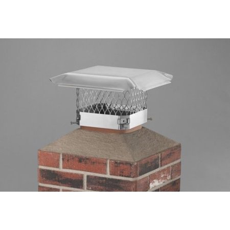 Draft King Single Flue 18 Inch X 18 Chimney Cover Unfinished   Ss