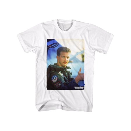 Top Gun 1980s Military Fighter Jet Action Movie Goose Thumb Up Adult T Shirt Tee by American Classics