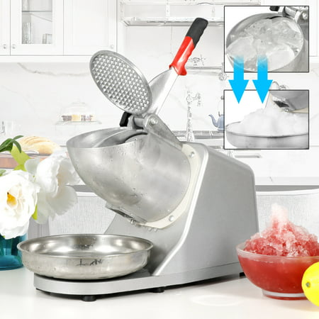 ZENY 300w Ice Shaver Machine Ice Crusher Electric Snow Cone Maker Stainless Steel Shaving Ice 143lbs Per (Best Shaved Ice Machine For Home)