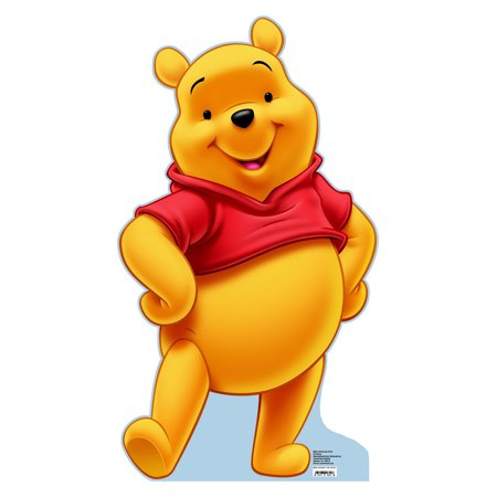 """Disney Winnie the Pooh Life Size Cutout Stand Large Cardboard Cutout Party Prop Decor Birthday party Supplies, Disney Birthday decoration Size: 40"""" x 23"""""""