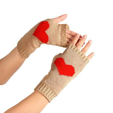 DZT1968Winter Wrist Arm Hand Warmer Knitted Long Fingerless Gloves (Hand Knitted Mittens)