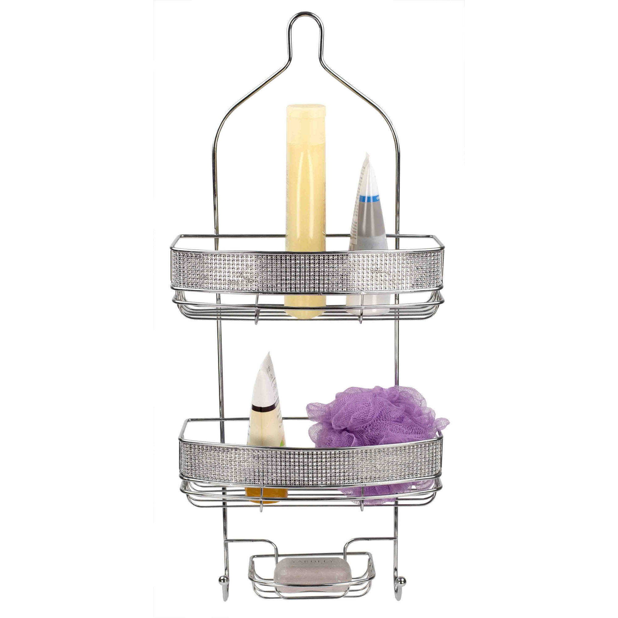 Home Basics Shower Caddy with Diamonds by Generic