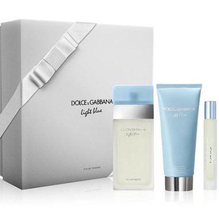 Dolce & Gabbana Light Blue Perfume Gift Set for Women, 3 Pieces