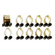 10 Count Brass Finish Pool - Billiard Cue Stick Rack Clips