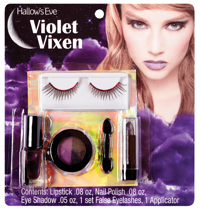 PM410073 Morris Costumes Makeup Kit Violet Vixen