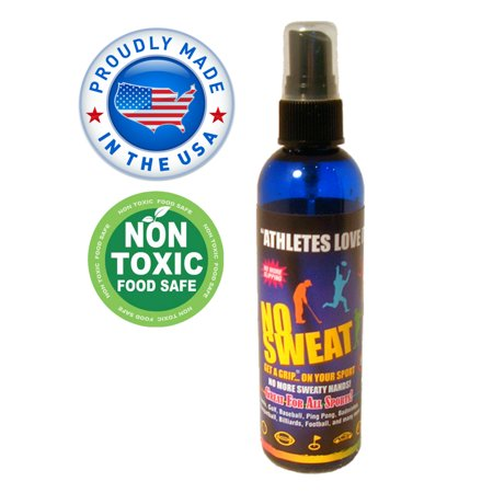 """No Sweat Get A Grip Hand Drying Hyperhidrosis Treatment All Sport Grip Enhancing Spray 3oz. Non Toxic Non Sticky Odorless No Residue Great For All Sports & To Dry Hyperhidrosis""""Made In The USA"""""""