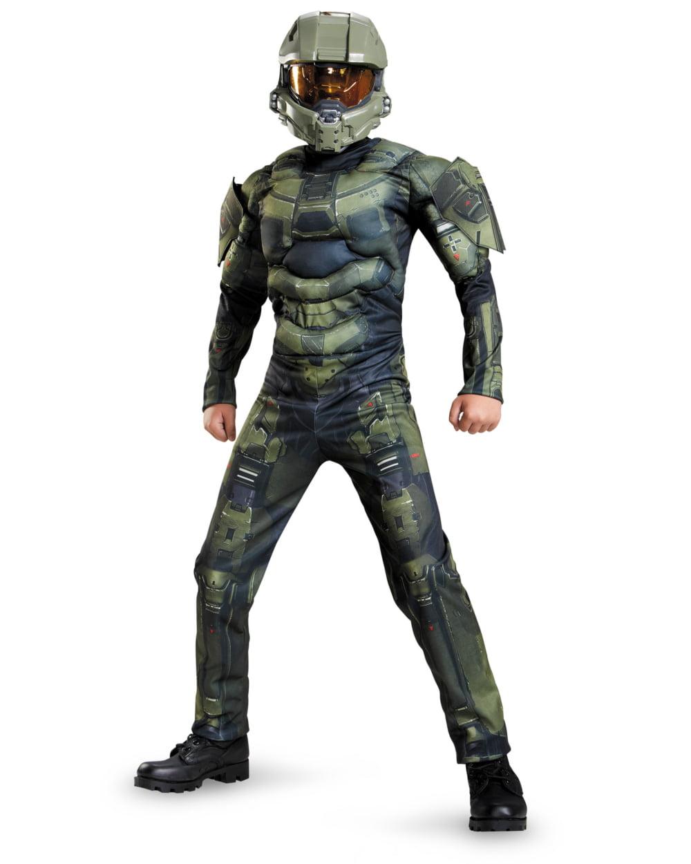 halo master chief classic muscle child dress up halloween costume walmartcom