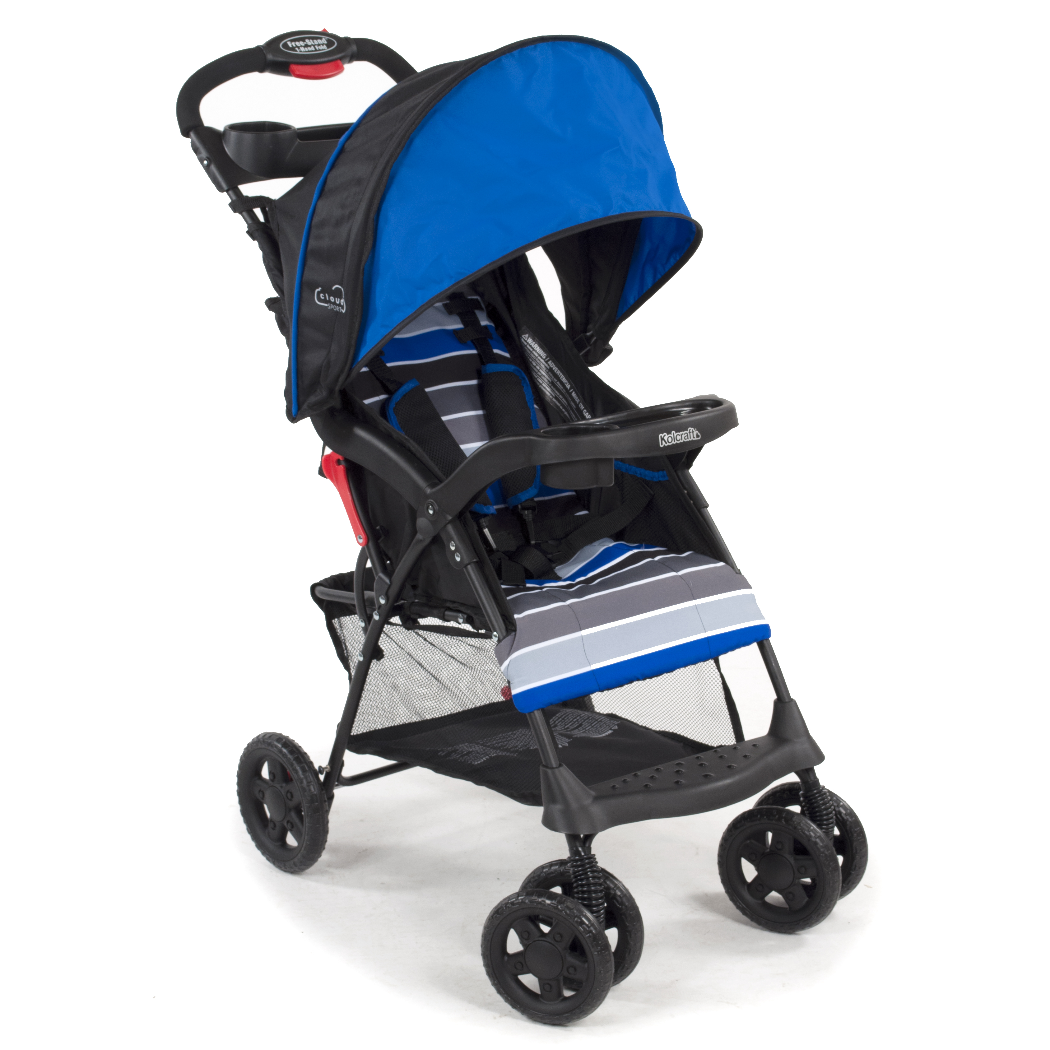 Kolcraft Cloud Sport Lightweight Stroller, Blue