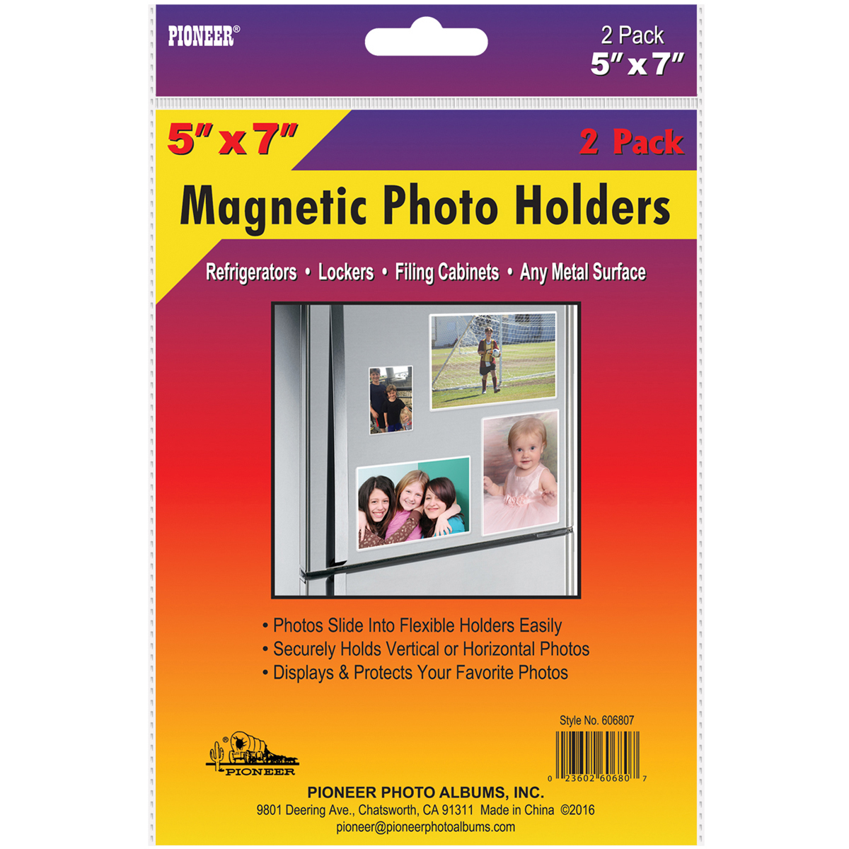 "Magnetic Photo Holders 2/Pkg-5""X7"""