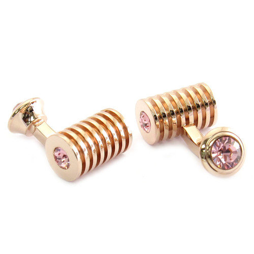 Cuff-Daddy Rose Gold Tone Swarovski Crystal Cufflinks