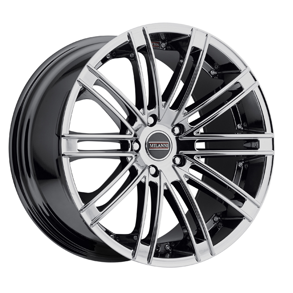 "22"" Inch Milanni 9032 Khan 22x10.5 5x120 +20mm PVD Chrome Wheel Rim"