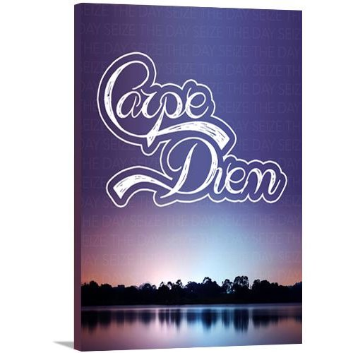 Artzee Designs Modern Quote ''Carpe Diem'' Graphic Art on Wrapped Canvas