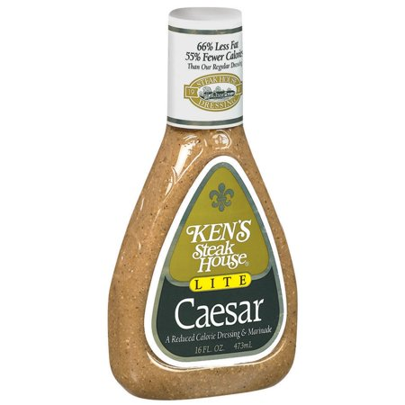 (3 Pack) Ken's Steak House Lite Caesar Salad Dressing, 16 Oz (Best Store Bought Caesar Dressing)
