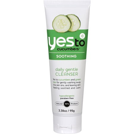 Soothing Cucumber - Yes To Cucumbers Soothing Daily Gentle Cleanser 3.38 Oz