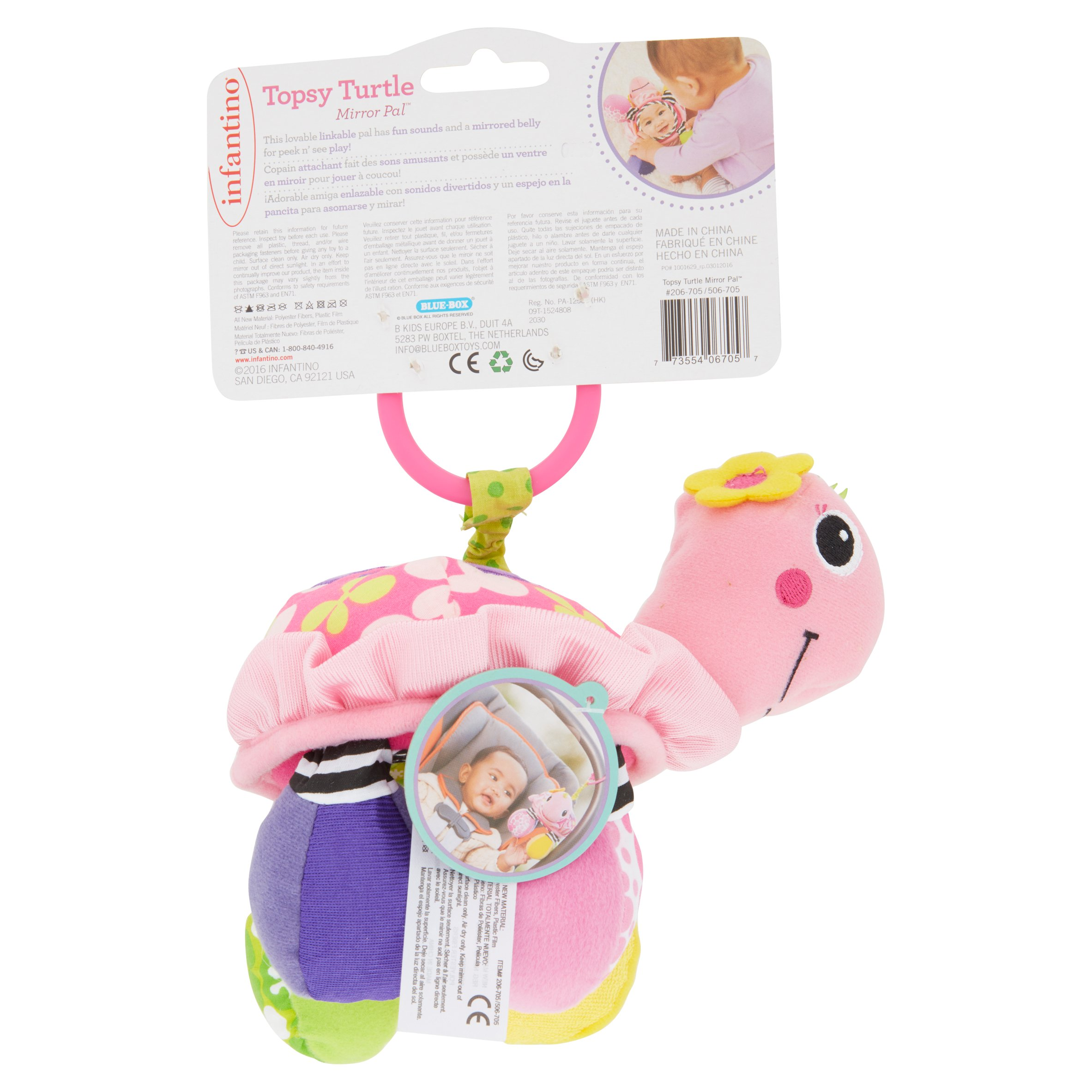 Infantino Sparkle Topsy Turtle Mirror Pal