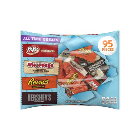 Hersheys Halloween All Time Greats Snack Size Hershey Assortment  95 Count