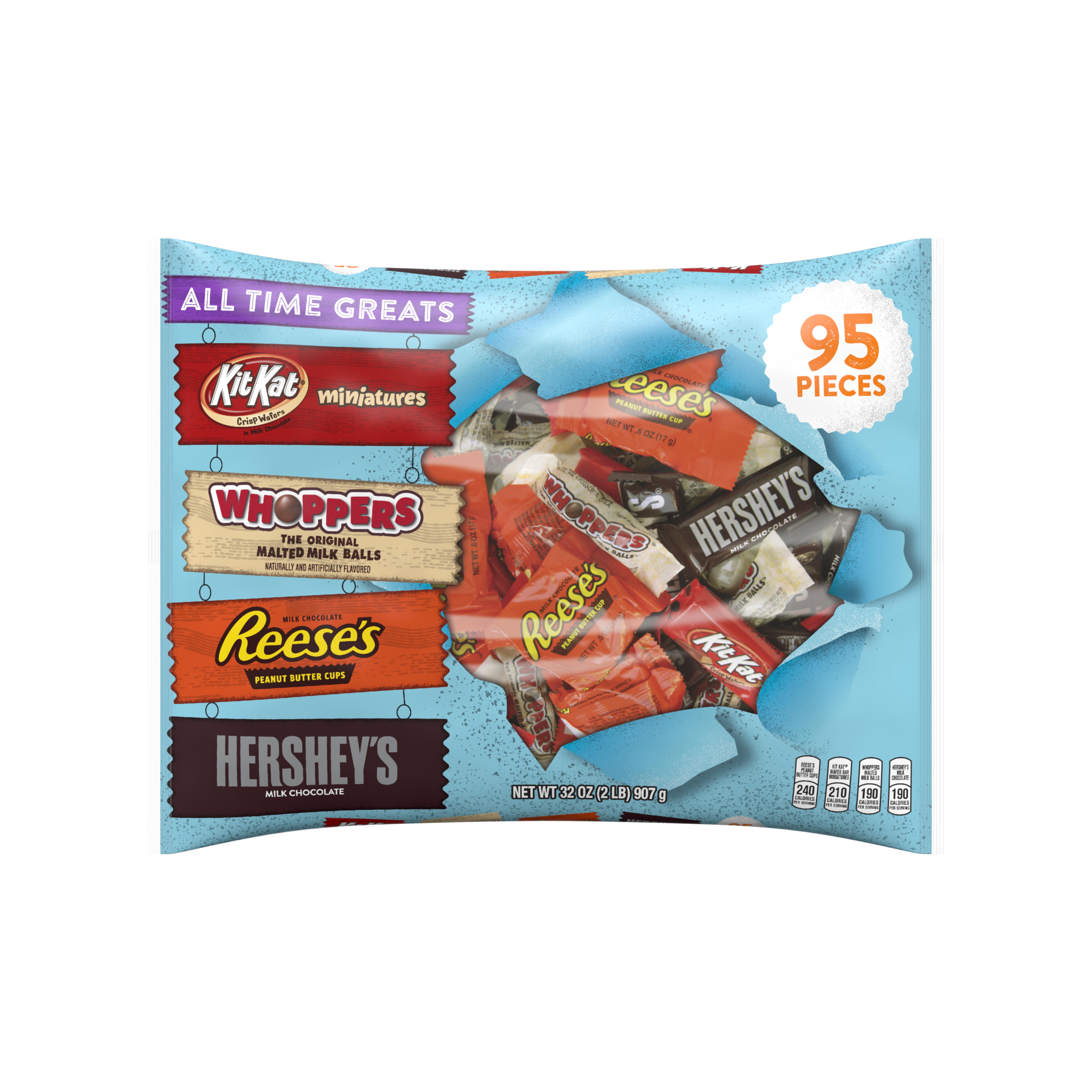 Hershey's Halloween All Time Greats Snack Size Hershey Assortment, 95 count