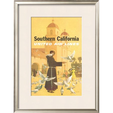 United Airlines: Southern California, Franciscan Monk an... Framed Giclee Print Wall Art