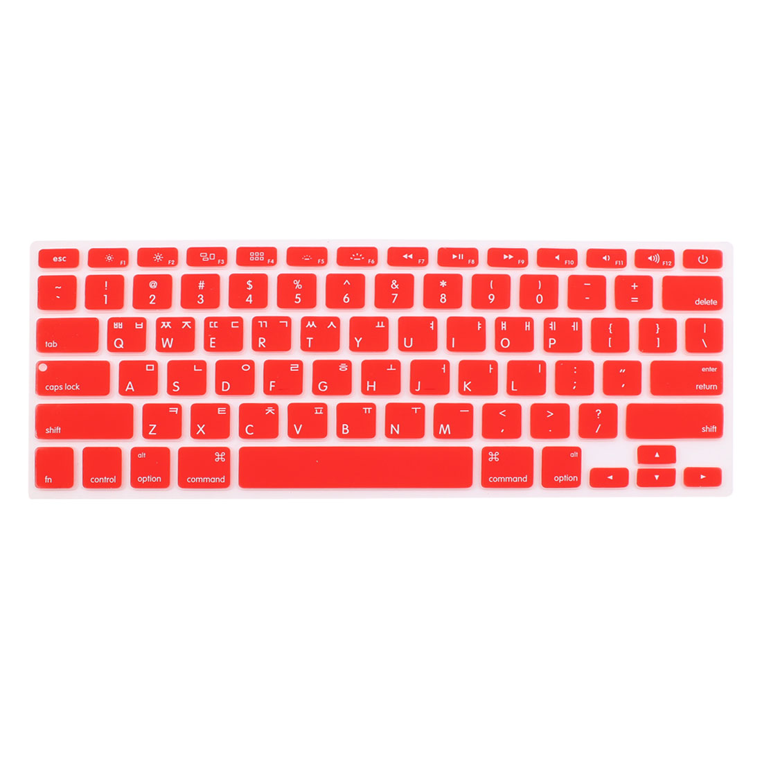 Korean Silicone Keyboard Skin Cover Red for Apple Macbook Air 13 15 17