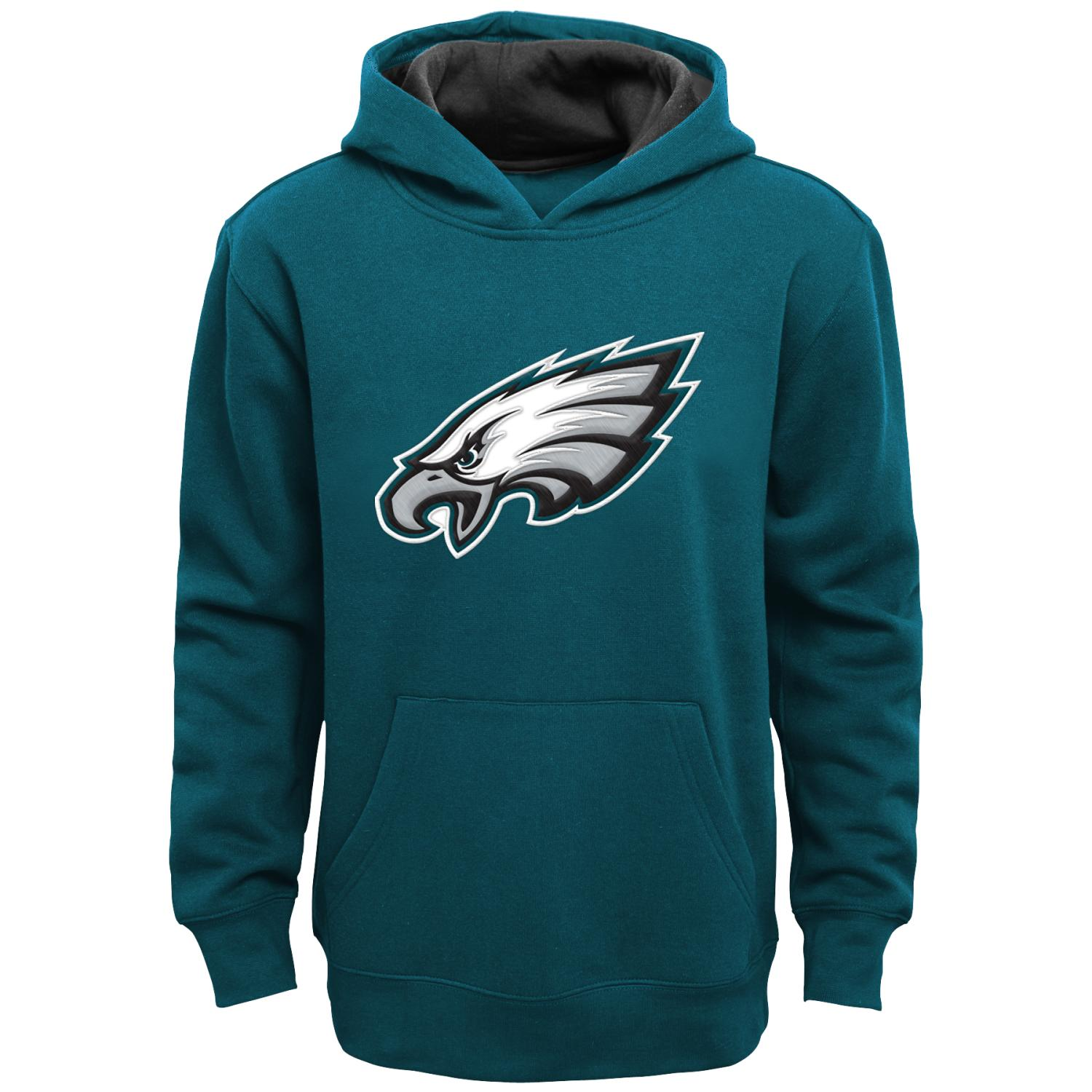"Philadelphia Eagles Youth NFL ""Primary"" Pullover Hooded Sweatshirt"