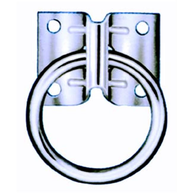 Hindley Hitching Ring Plate Style Zinc 41640 - Pack of 10
