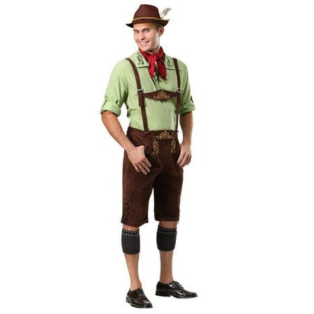 Men's Alpine Lederhosen - Funny Lederhosen Costume