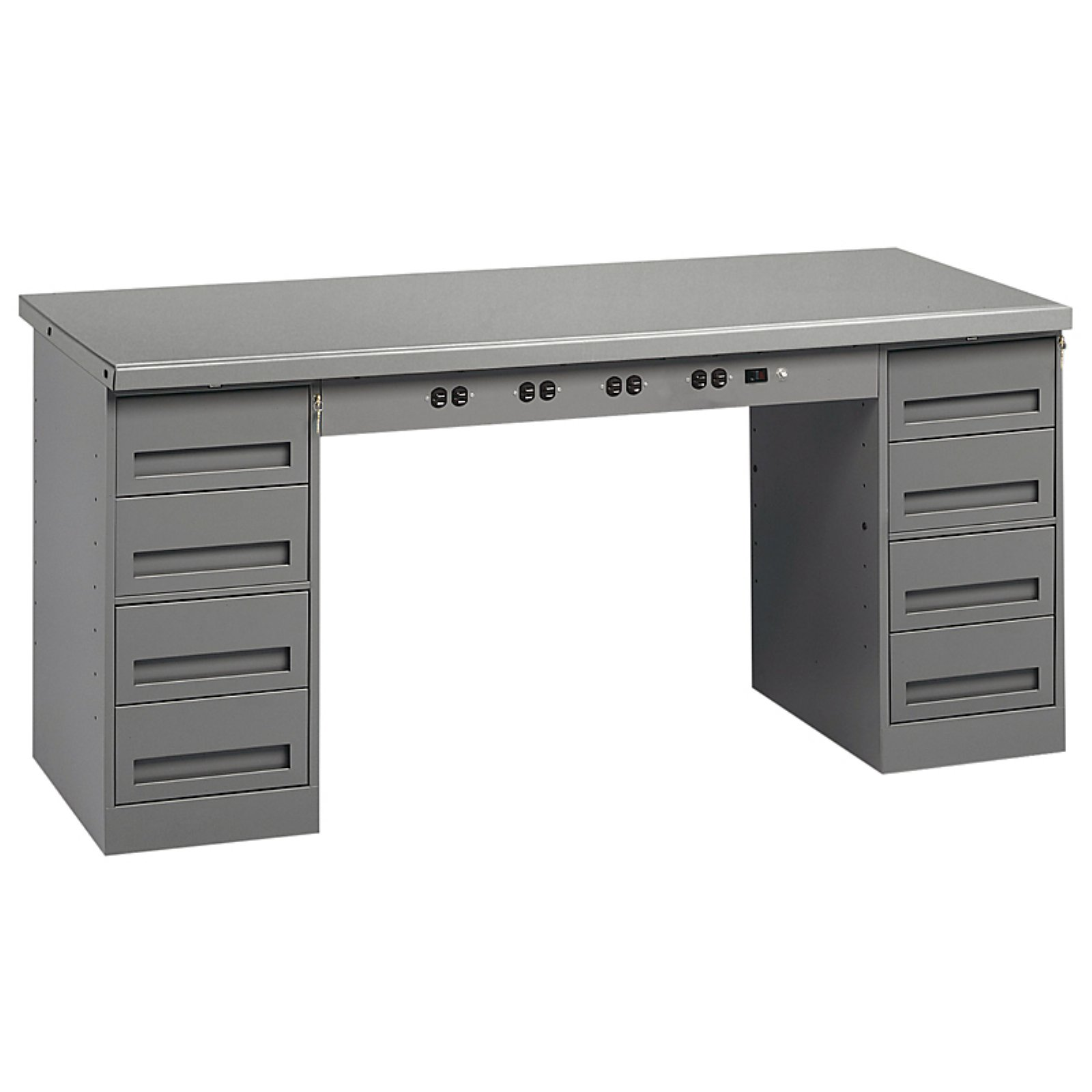 Tennsco Electronic Solid Steel Top Modular Workbench with Drawers by Tennsco Corp