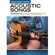 Acoustic Songs - Really Easy Guitar Series: 22 Songs with Chords, Lyrics & Basic Tab (Paperback)