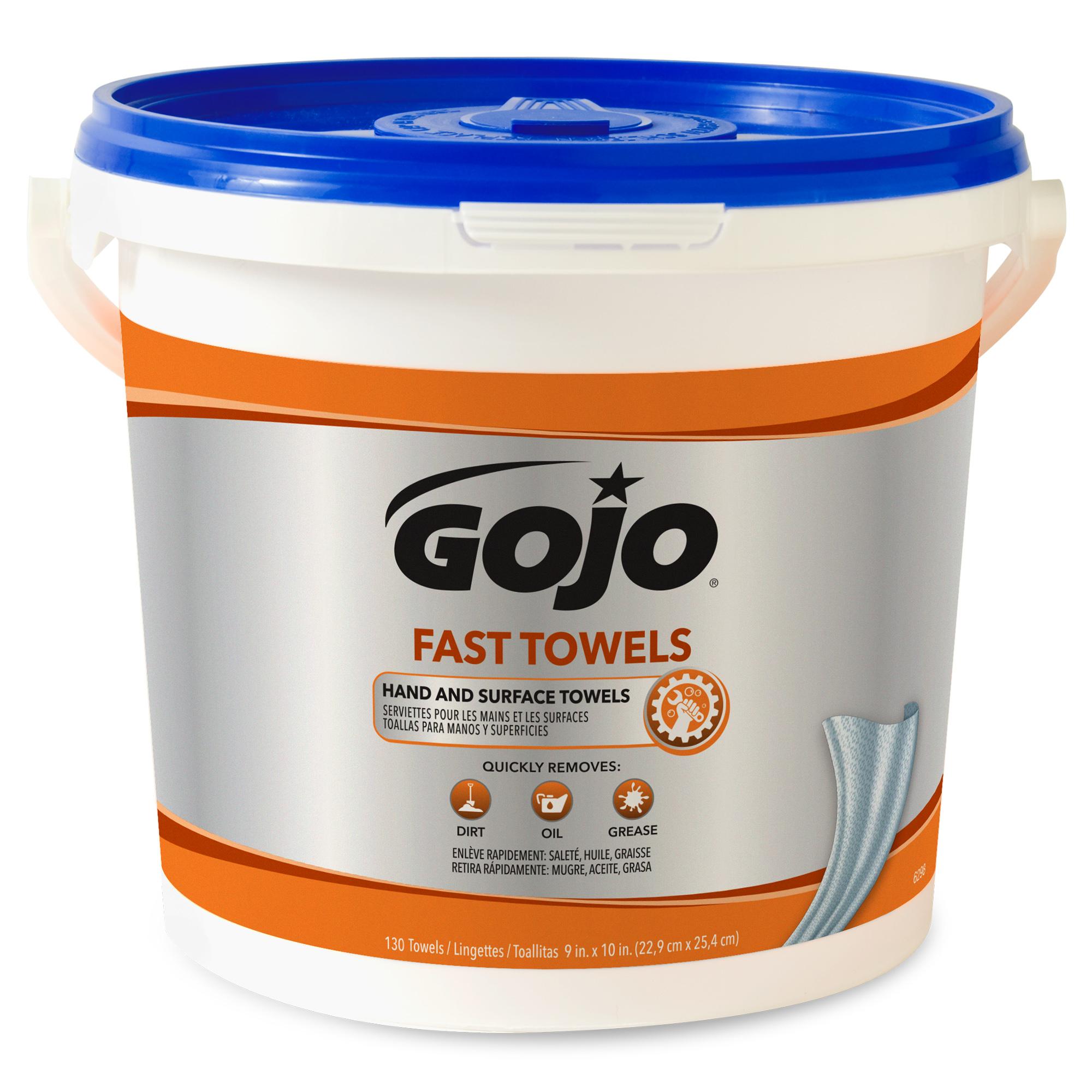 FAST TOWELS Hand Cleaning Towels, 7 3/4 x 11, 130/Bucket, 4 Buckets/Carton - GOJ6298