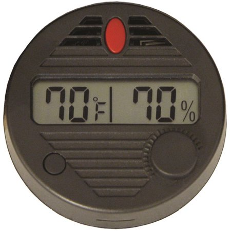 HygroSet II Round Adjustable Digital Hygrometer