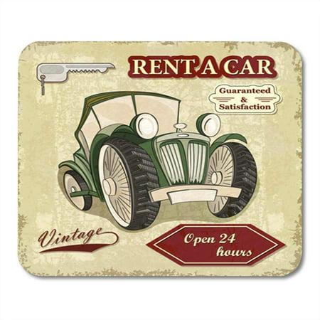LADDKE Vintage Car Rentals Retro Auto Automobile Automotive Rent Text Mousepad Mouse Pad Mouse Mat 9x10 inch](Cheap Rental Cars Okc)