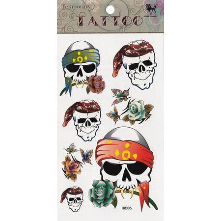 SKULLS & ROSES TATTOO Set, Officially Licensed Original Artwork, High Quality, 4