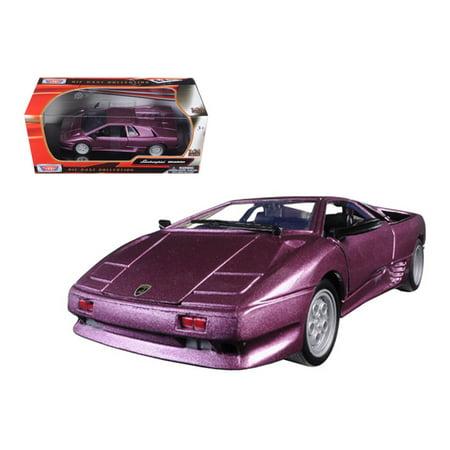Lamborghini Diablo Purple 1/24 Diecast Model Car by - Lamborghini Diablo Roadster