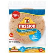 Mission Carb Balance Soft Taco Whole Wheat Tortillas, 8 Count