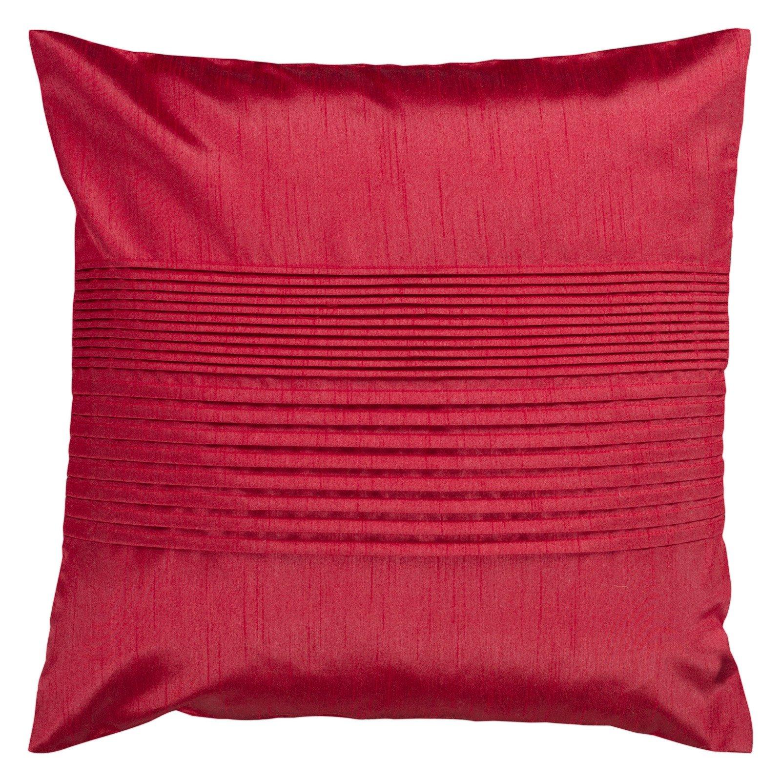 Surya Tracks Decorative Pillow - Red