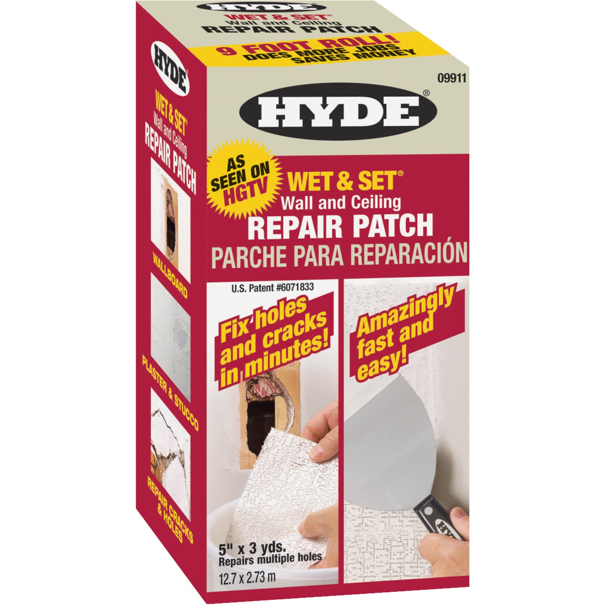 Hyde Wet & Set Wall & Ceiling Repair Drywall Patch