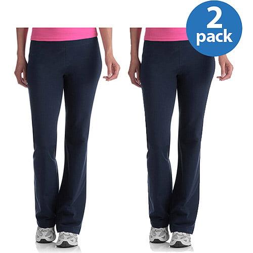 Danskin Now Women's Plus-Size Dri-More Core Bootcut Workout Pants 2-Pack Value Bundle