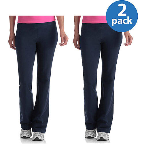 Danskin Now Women;s Plus-Size Dri-More Core Bootcut Workout Pants 2-Pack Value Bundle