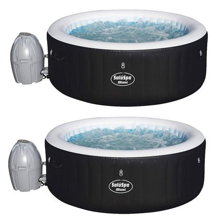SaluSpa 71 x 26 Inch Inflatable Portable 4-Person Spa Hot Tub (2 Pack) Bestway