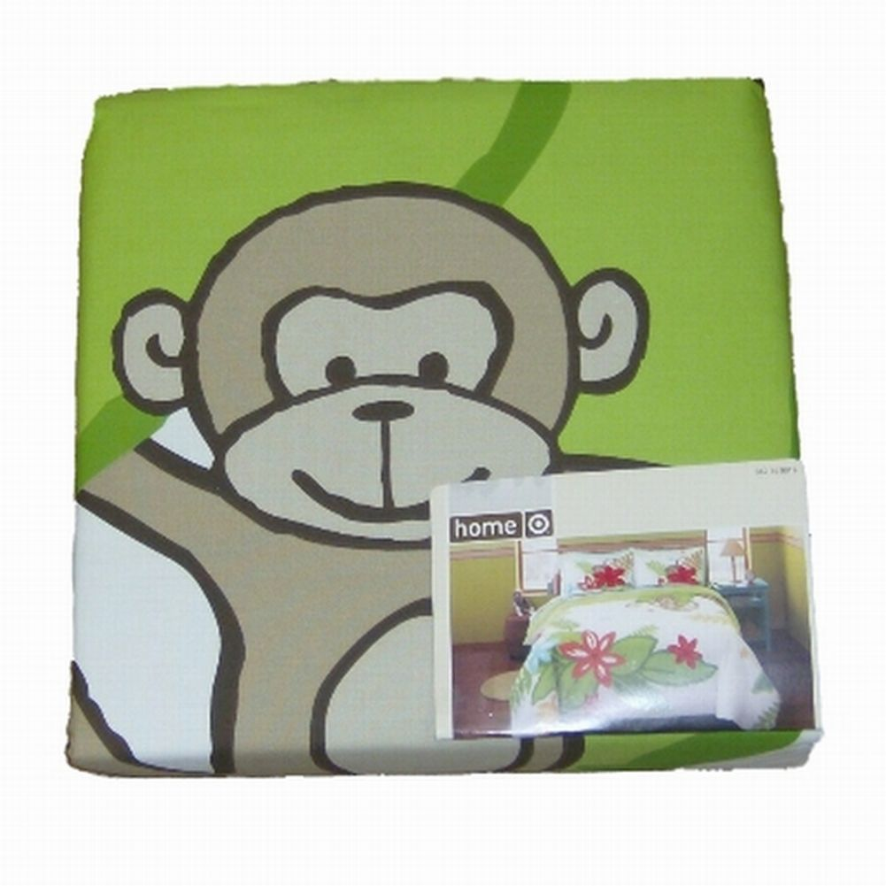 Home Tropical Flowers & Monkeys 3 Pc Duvet Cover Set Full Queen Size Bed